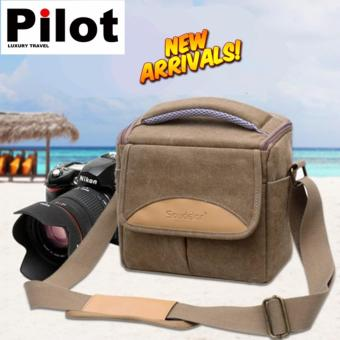 Pilot Soudelor 6005 Canvas Travel Shoulder Bag Camera Insert BagFor NIKON CANON SONY Protect Package Case Partition Padded for DSLRSLR Lens
