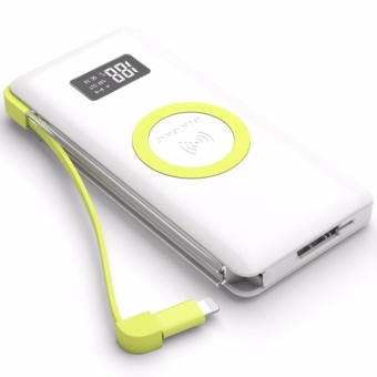 Pineng PN-888 10000mAh Wireless Charge Built-In Lighting Powerbank (White)