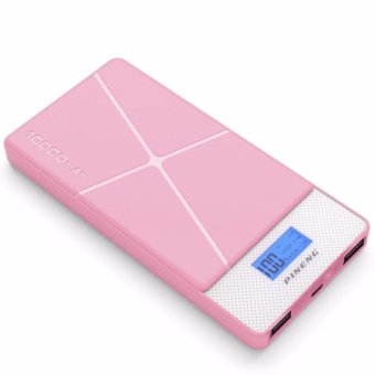 Pineng PN-983 10000mAh Lithium Polymer Power Bank (Pink)