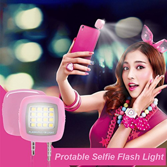 Pink Selfie LED speed lite for all smartphones - picture 3