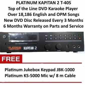 Platinum Kapitan 2 T40S Limited Edition DVD Karaoke Player with 18186 Songs, Free Platinum KS-5000 Microphone and Free Jukebox Keypad