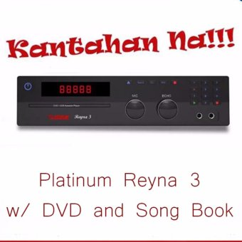 Platinum Reyna 3 High Quality Karaoke with DVD and Song Book FREE
