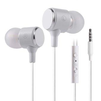 PLEXTONE X34M 3.5mm Plug Headsets Universal Line-control Earphones (White) - Intl
