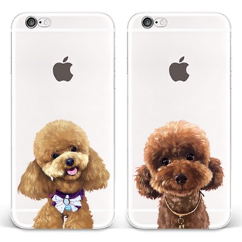 Plus iphone7/iphone6s cute pet Teddy dog phone case