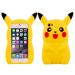 Pokemon Cartoon 3D Pikachu Cute Soft Silicone Protective Back Cover Case For iPhone 5 / 5s