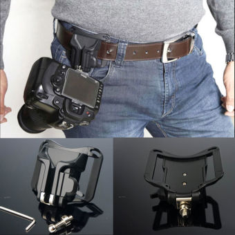 Portable 1/4 Quick Release Waist Belt Buckle Strap Hanger Holder for DSLR Camera - intl