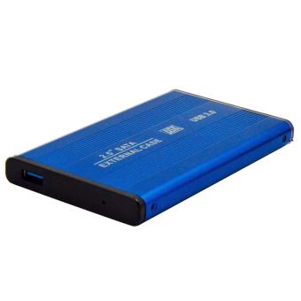 Portable 2.5 Inch SATA to USB 3.0 External Mobile Hard Drive Case HDD Enclosure Blue - intl