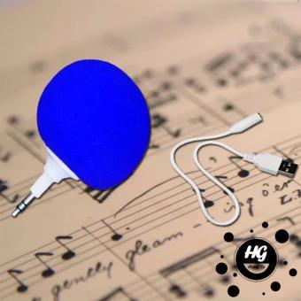 Portable 3.5mm Audio Jack Music Player Speaker Blue