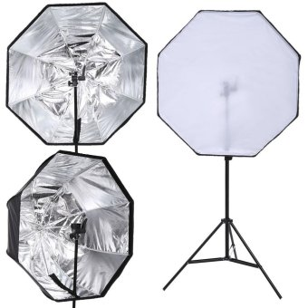 Portable 80cm/31.2inch Softbox Umbrella Reflector for Studio Flash Speedlight Portrait/Product Photography - intl