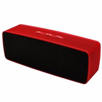 Portable Bluetooth Dual Speakers Ultra Bass (Red)