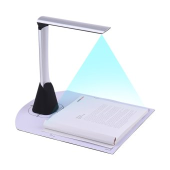 Portable High Speed USB Book Image Document Camera Scanner 5 Mega-pixel HD High-Definition Max. A4 Scanning Size with OCR Function LED Light for Classroom Office Library Bank