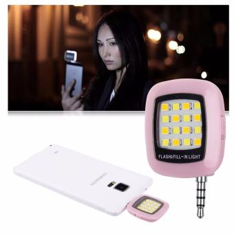 Portable LED Selfie Flash Fill-in Light for Camera Mobile Phone(Pink) - 2