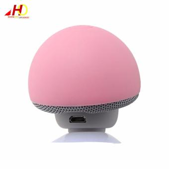 Portable Mini Mushroom Wireless Bluetooth Speaker (Pink) - 5