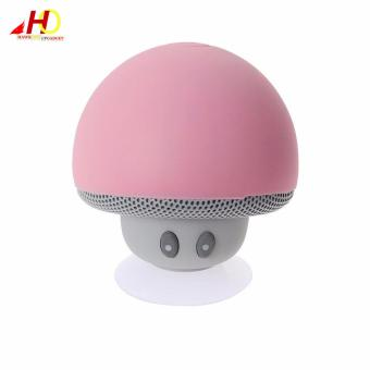 Portable Mini Mushroom Wireless Bluetooth Speaker (Pink) - 2