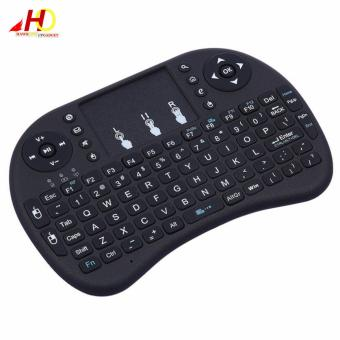 Portable Mini USB Wireless Keyboard Touchpad Air Mouse Fly MouseRemote Control (Black)