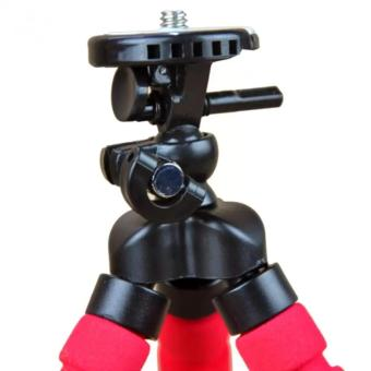 Portable Phone Holder Digital Camera 15CM Flexible Tripods OctopusStand for Camera/Smartphone (Red) - 3