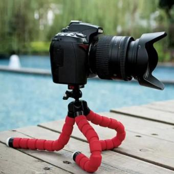 Portable Phone Holder Digital Camera 15CM Flexible Tripods OctopusStand for Camera/Smartphone (Red) - 5