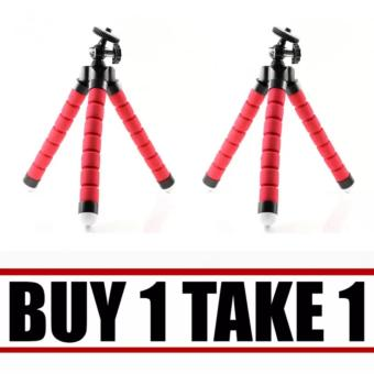 Portable Phone Holder Digital Camera 15CM Flexible Tripods OctopusStand for Camera/Smartphone (Red) Buy 1 Take 1