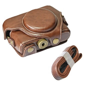 Portable PU Leather Camera Protector Case Protective Bag Cover withAdjustable Shoulder Strap for Sony DSC RX100M1 M2 M3 M4 M5 CamerasCoffee-color - intl Price Philippines