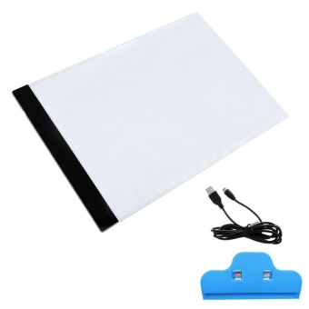 Portable USB Powered Ultra-thin A4 LED Eyesight-protected ArtistsDrawing Sketching Animation Tracing Light Box Tablet Pad Board withClip - intl