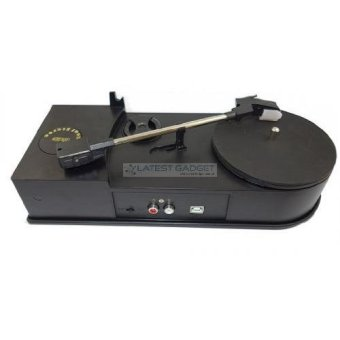 Portable USB Vinyl Turntable Audio Player To MP3 Converter (Black)