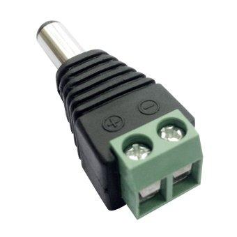 Posdou 10 x Male 2.1x5.5mm DC Power Cable Jack Adapter ConnectorPlug Led Strip CCTV Camera Use 12V - intl - 3