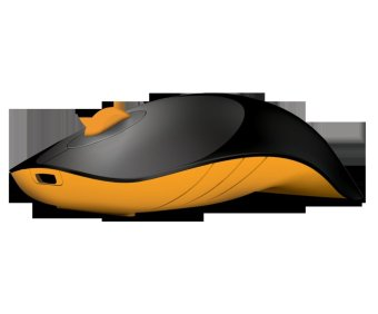 PowerLogic Air Shark 1600CPI Wireless Mouse (Black/Yellow)