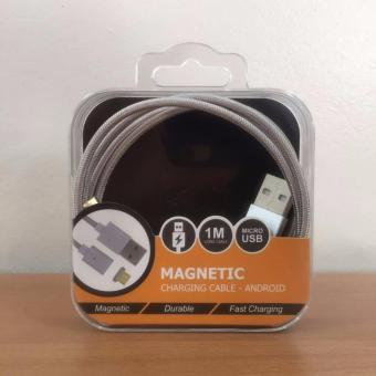 Premium Slim 2.4A Micro USB Charging Magnetic Cable (data / charge)silver