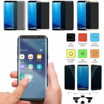 Privacy Screen Anti-Spy Full Cover Tempered Glass For Samsung Galaxy S8+ Film - intl