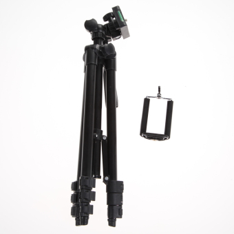 Professional Camera Tripod Stand Holder For Smart Phone iPhone Samsung (Black)