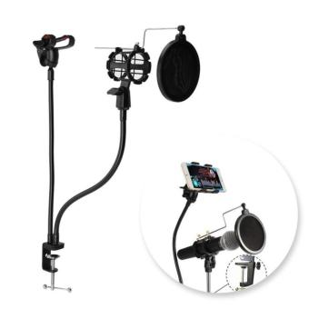 Professional Microphone Stand Mount Holder with Clip for Karaoke MV - intl