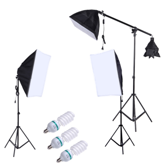 Professional Photography Photo Lighting Kit Set with 5500K 135WDaylight Studio Bulb Light Stand Square Cube Softbox Cantilever Bag Price Philippines