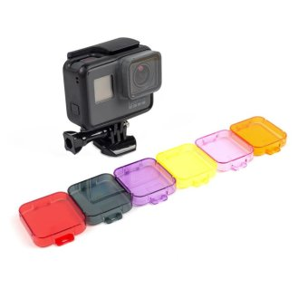Professional Switchable Snorkeling and Scuba Diving Lens Filter for GoPro Hero 5 Camera Go pro 5 Accessories - intl