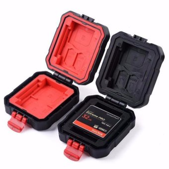 Protable Water-resistant Anti-skid Shakeproof Sd Card Storage BoxMemory Card Cases Red - intl Price Philippines