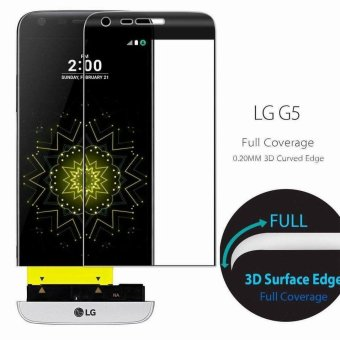 Protec 3D Curved Tempered Glass Screen Protector for LG G5 (Black)