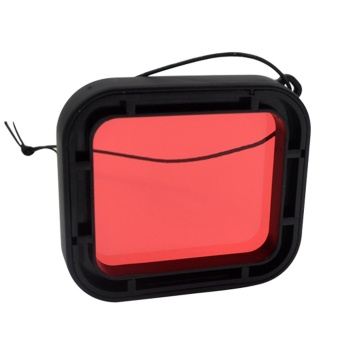 Protective Diving Lens Red Filter for Underwater Video PhotographyFilming for GoPro Hero 5 Action Camera - intl