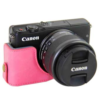 PU Camera Half Body Bottom Case Cover for Canon EOS M10 - intl