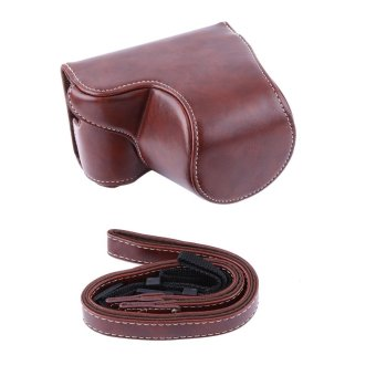 PU Leather Camera Case Bag Pouch Bag For Sony A5000/A5100/NEX3N And16-50mm Camera Lens(coffee) - intl