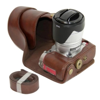 PU Leather Camera Case for Fujifilm X-A3 XA3 X-A2 XA2 X-A1 XA1 X-M1 XM1 X-A10 XA10 16-50mm Lens - intl Price Philippines