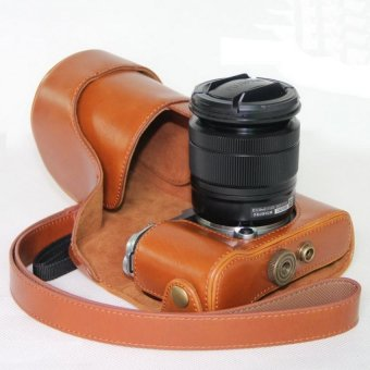 PU Leather Camera Hard Cover Case Bag Protector cover for FinepixFuji Fujifilm X-A3 XA3 16-50mm Lens(Brown) - intl