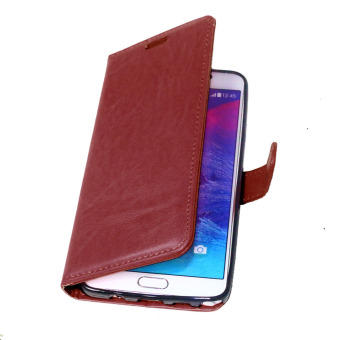 PU Leather Flip Stand Case Wallet Cover for Samsung Galaxy Note 5(Brown) - Intl - 5