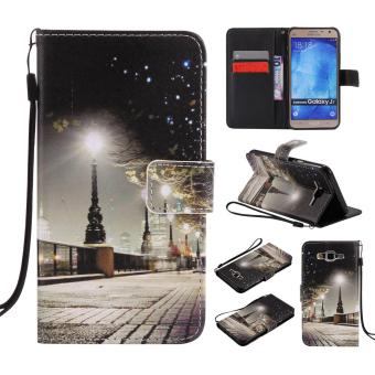 PU Leather Flip Wallet Case for Samsung Galaxy J7 2015 - intl