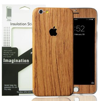 PVC Full Body Skin Sticke DIY Front Back Cover Film for AppleiPhone 6(S) Plus (Brown) Price Philippines