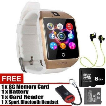 Q18 Touch Screen Smart Watch With SIM And TF Card Bluetooth MP3 MP4Camera Smart Bracelet For Android And IOS - intl