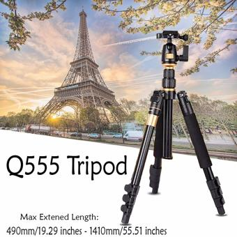 Q555 DSLR Camera Tripod Professional Portable Travel CompactMonopod with Ball Head Adjustable Stand Holder