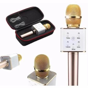 Q7 Portable Rechargeable Wireless Bluetooth Speaker Microphone Mic(Gold) Price in Philippines