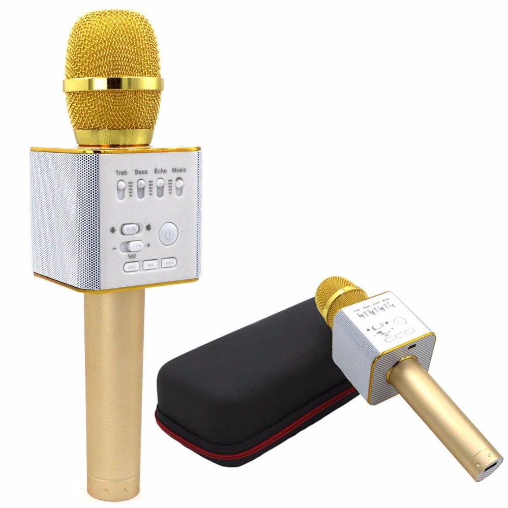 Philippines Q9 Bluetooth Microphone Speaker Handheld Karaoke Ktv Mic Wireless Player Wirelessportable Gold