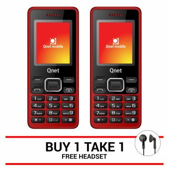 QNET MOBILE B17 (Red) Buy One Take One