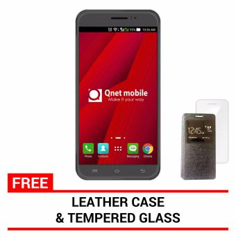 QNET Mobile Jomax 8GB (Tarnish) with FREE Leather Case and Tempered Glass
