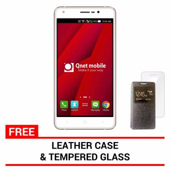 QNET Mobile Wisco 8GB (Gold) with FREE Leather Case and Tempered Glass